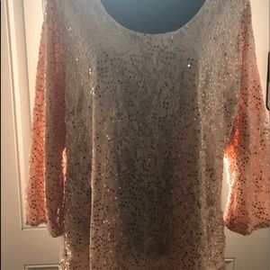 PEACH SLINKY BRAND Sequined Blouse